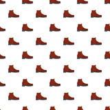 Hiking boots pattern seamless. In flat style for any design Stock Image