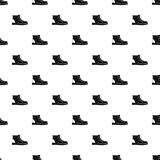 Hiking boots pattern seamless. Repeating for any web design vector illustration
