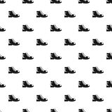 Hiking boots pattern vector seamless. Repeating for any web design Stock Image
