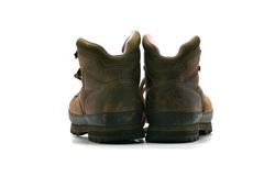 Hiking Boots - Rear view Royalty Free Stock Photography