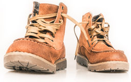 Hiking boots. The hiking boots, on white Royalty Free Stock Photography