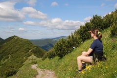 Hiking break (relax) Stock Photo
