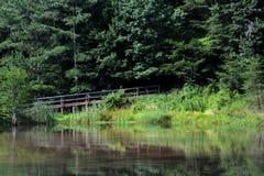 Hiking bridge Stock Image