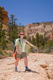 Hiking in Bryce Canyon Stock Photography
