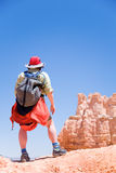 Hiking in Bryce Canyon Stock Images