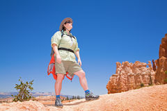 Hiking in Bryce Canyon Royalty Free Stock Photo