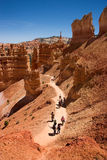 Hiking in Bryce Canyon. People hiking in Bryce Canyon National Park, Utah, USA Stock Photo