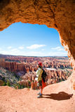 Hiking in Bryce Canyon Royalty Free Stock Photography