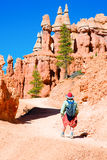 Hiking in Bryce Canyon Stock Photos