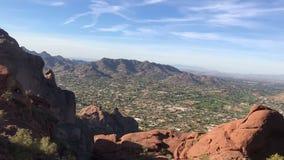 Hiking Camelback Mountain in Phoenix Arizona. Hiking Camelback Mountain in Phoenix Scottsdale Arizona stock footage