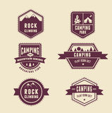 Hiking, camp badges - set of icons and elements Stock Photography