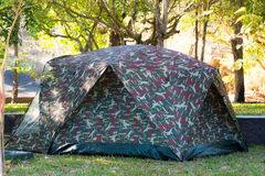 Hiking and camping tent. Design tents collection in camouflage vector illustration