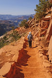 Hiking into the Canyon Stock Photography