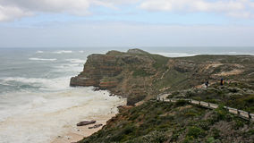 Hiking Cape of Good Hope on a stormy day Stock Image