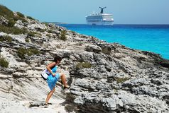 Hiking in Caribbean Royalty Free Stock Images