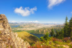 Hiking Castle Peak in Gifford Pinchot National Forest Stock Photos