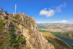 Hiking Castle Peak in Gifford Pinchot National Forest royalty free stock photo
