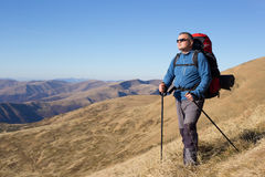 Hiking in Caucasus mountains. Stock Images