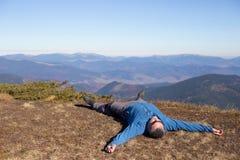 Hiking in Caucasus mountains. Royalty Free Stock Photos