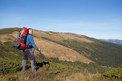 Hiking in Caucasus mountains. Royalty Free Stock Photo