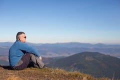 Hiking in Caucasus mountains. Royalty Free Stock Image