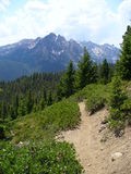 Hiking in Central Idaho Stock Images