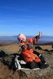 Hiking child Royalty Free Stock Photo