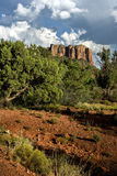 Hiking between clay hills Stock Image