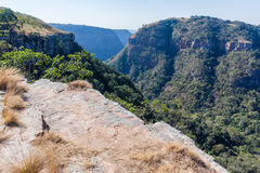 Hiking Cliffs Valley Landscape Stock Photography