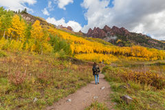 Hiking Colorado in Fall Stock Photography