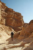 Hiking in Colorful canyon Stock Photography