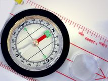 Hiking Compass Royalty Free Stock Images