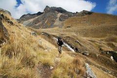 Hiking in the Cordilleras Stock Photo