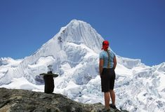 Hiking in the Cordilleras royalty free stock image