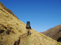 Hiking in Cordilleras Royalty Free Stock Images