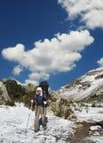 Hiking in Cordilleras Stock Photo