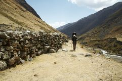 Hiking in the Cordilleras,Peru Royalty Free Stock Photography