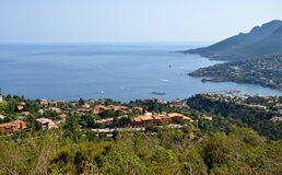 Hiking at Cote d'Azur in France Royalty Free Stock Image