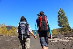 Hiking couple royalty free stock image