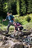Hiking couple Royalty Free Stock Photo
