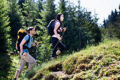 Hiking couple Royalty Free Stock Image