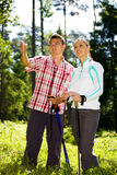 Hiking couple Stock Image