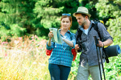 Hiking couple Stock Photos