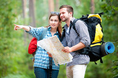 Hiking couple Stock Photography