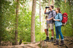 Hiking couple royalty free stock photo