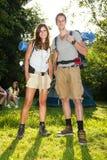 Hiking Couple stock photography