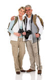 Hiking couple hugging Royalty Free Stock Images