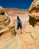 Hiking Coyote Buttes Stock Photos