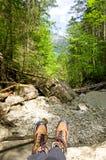 Hiking creek Royalty Free Stock Photo