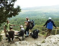 Hiking in Crimea Stock Photography